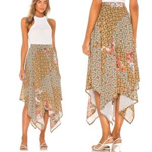 Free People Stay Awhile floral Maxi Skirt